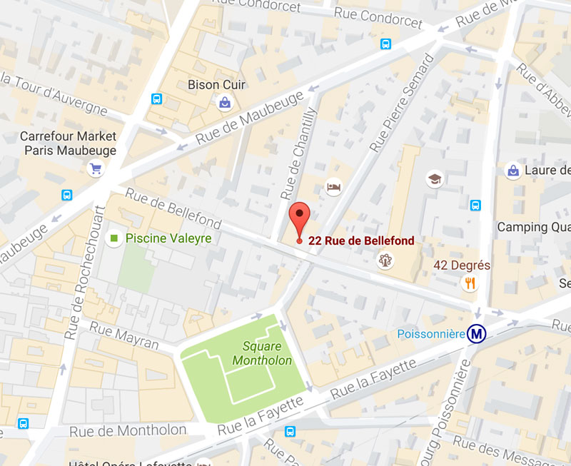 Location of the hotel helussi paris official site for Paris hotel map
